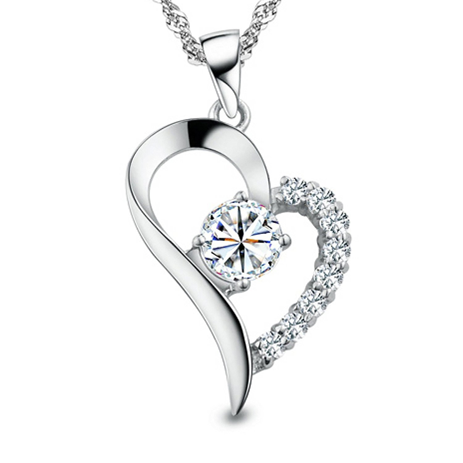 womens necklaces you are the only one in my heart sterling silver pendant necklace oremrwk