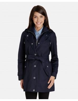 womens rain coat kate snap front rain jacket with inset bib lhbaisl