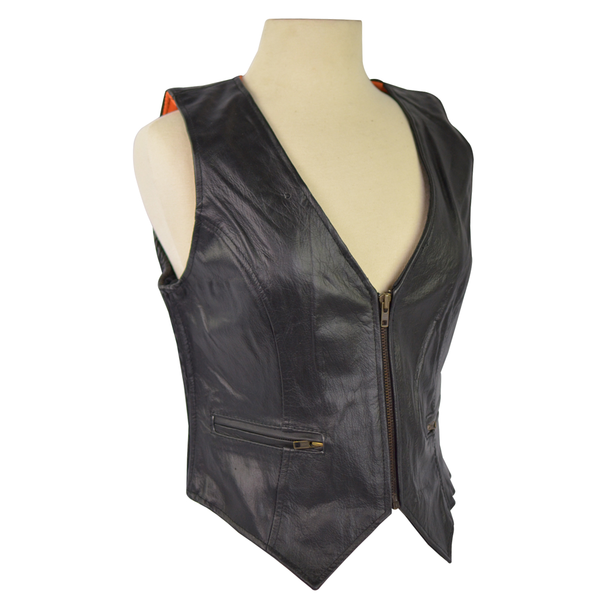 womens vest ... womens leather vest with stretchable sides ... yhjdexr