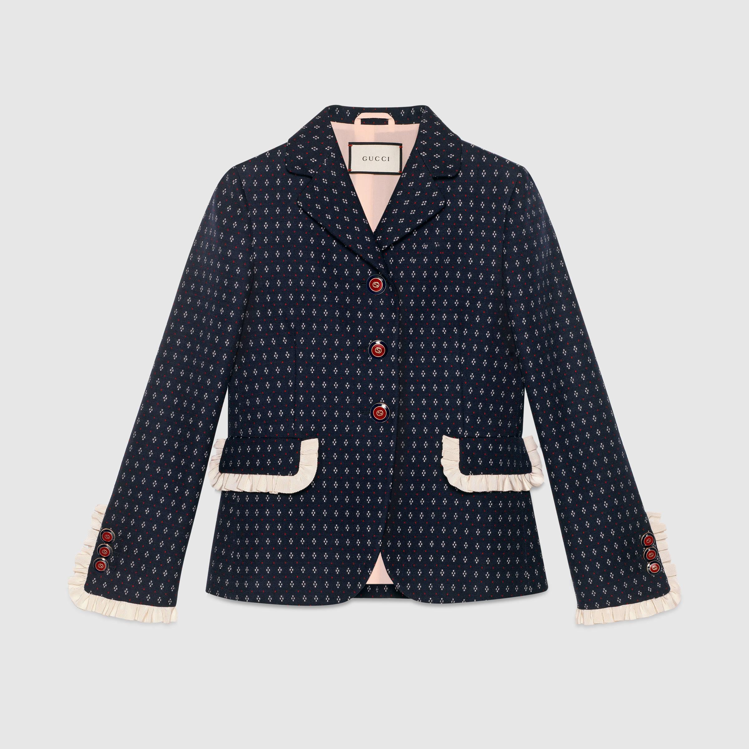 wool coat geometric pattern wool jacket gnsmfdb