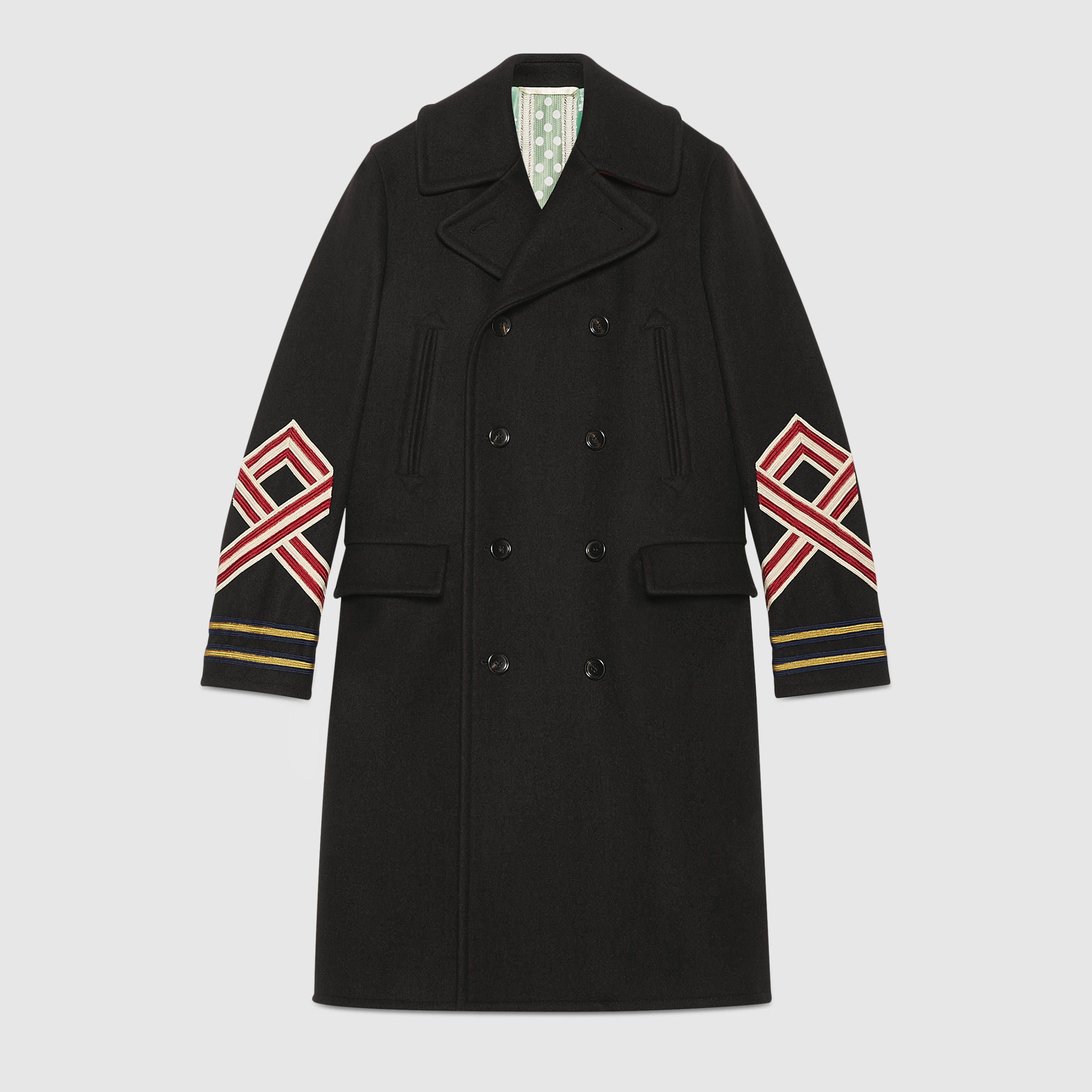 wool coat with embroideries gafozcj