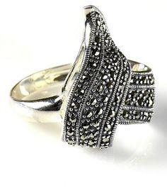 yanaka elite silver bracelet sterilng 925 marcasite jewelry huolahd
