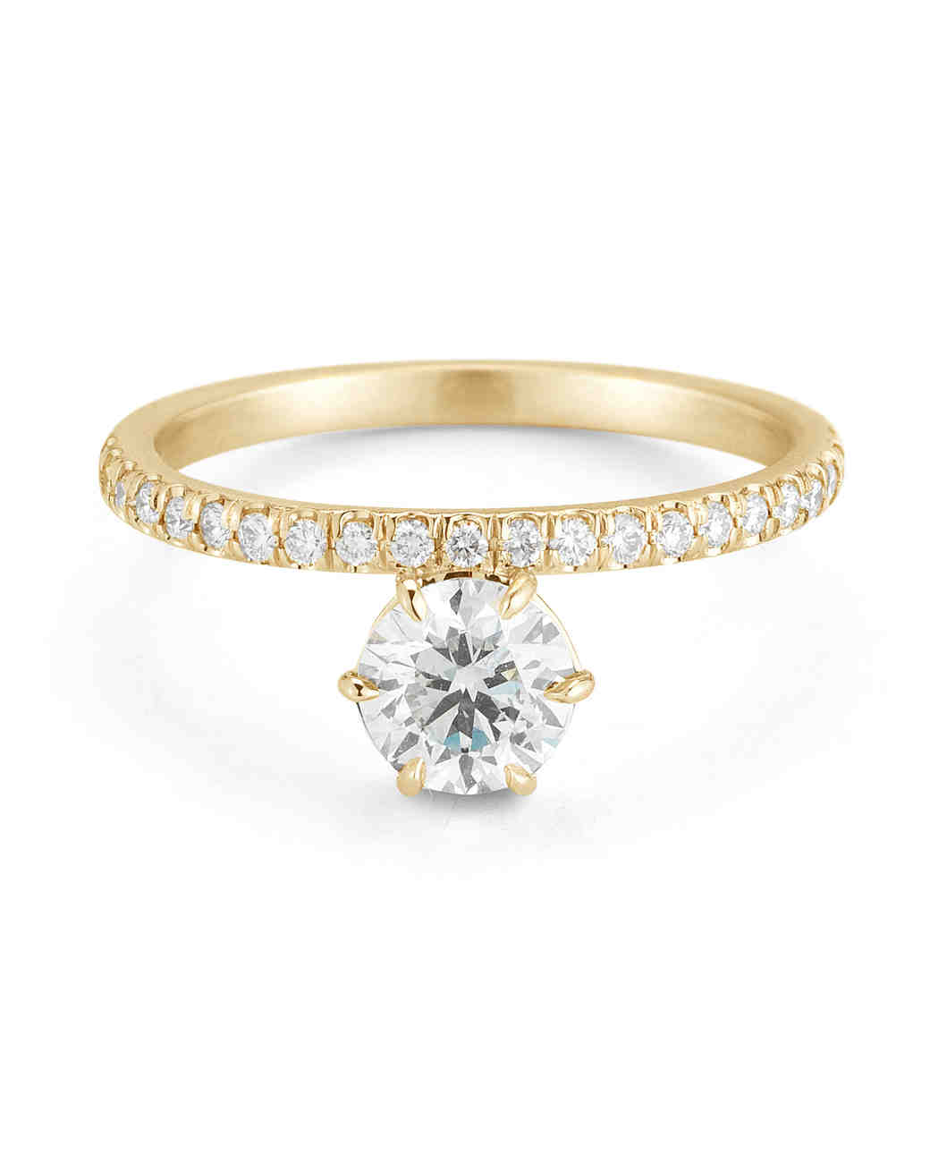 yellow gold engagement rings | martha stewart weddings zfcfgqt