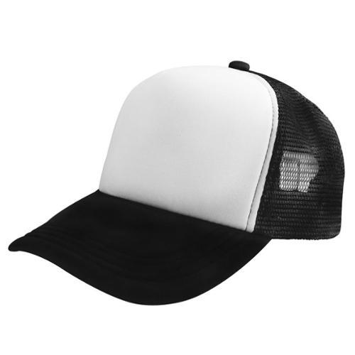 zodaca trucker hat baseball cap mesh caps blank plain mesh hats white/black ivpedzp