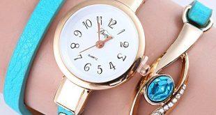 $3.78 layered polished eye bracelet watch fovlrsp