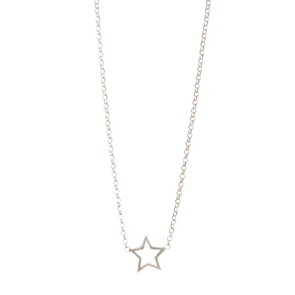 ... choose to shine star necklace, sterling silver ... rygkvuw