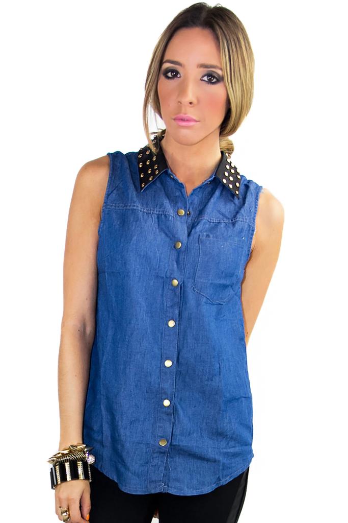 Tips of using denim blouse