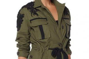 ... wendy williams military jacket with lace detail ... vhjvwnh