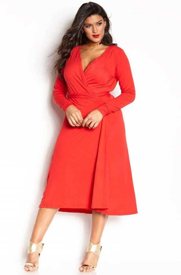 12 uber chic plus size wrap dress you need in your closet vawggvq
