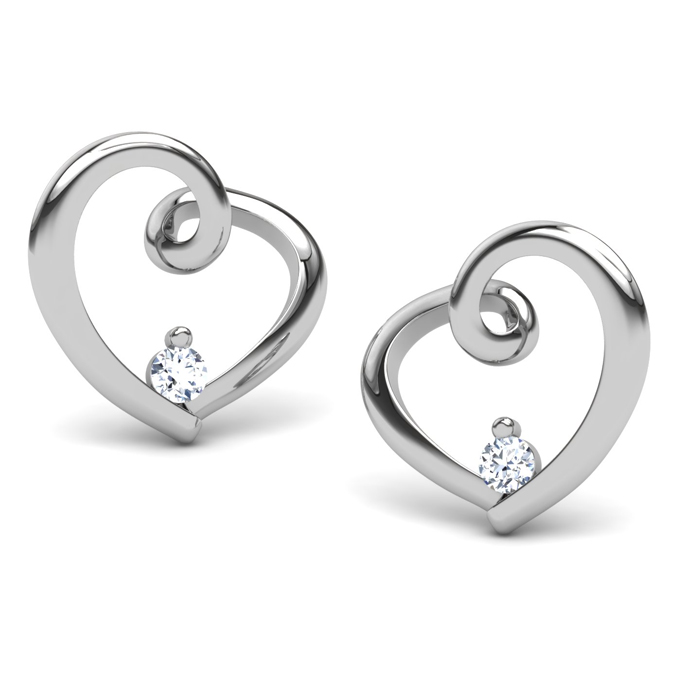 14kt white gold earrings. sandi pointe virtual library of collections rbkiion