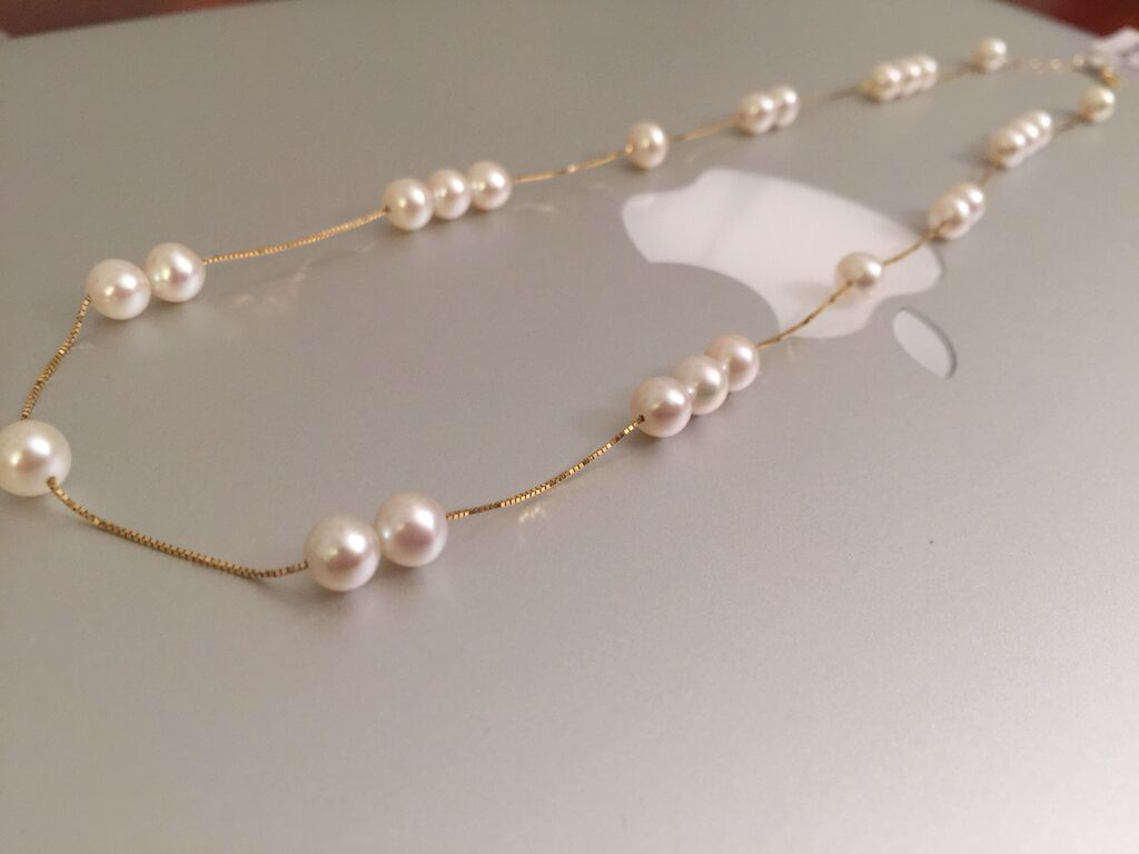 18k gold cultured pearl necklace uwepbur