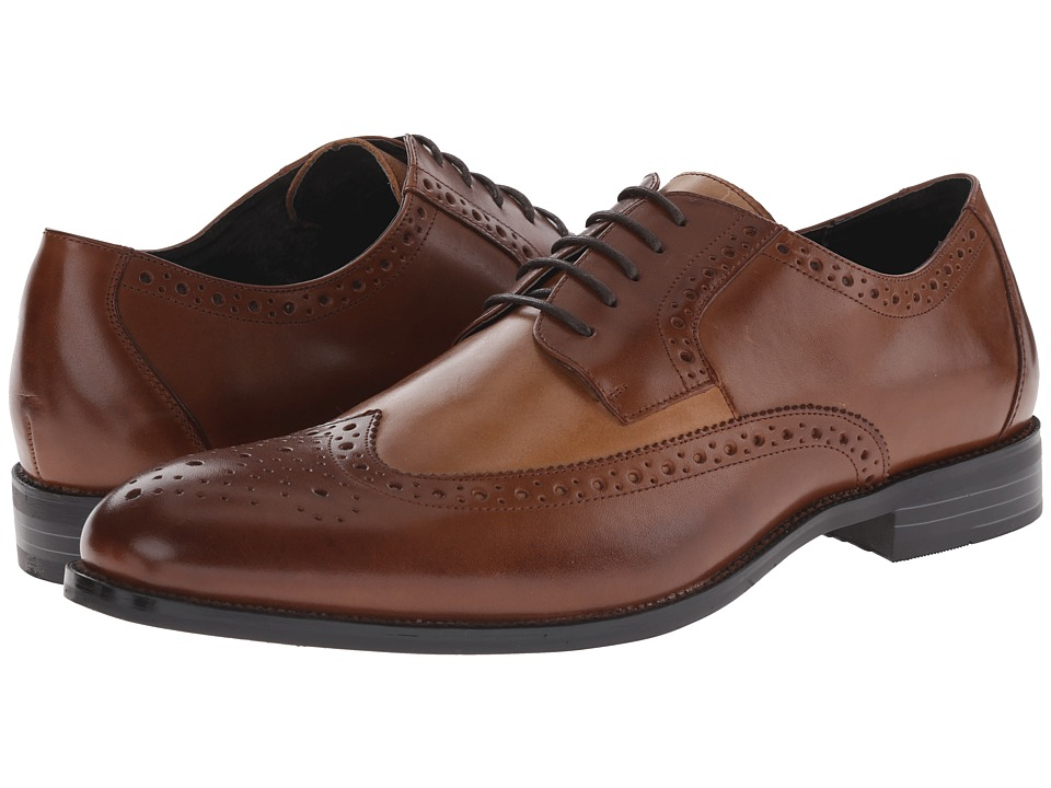 1920s style mens shoes stacy adams - garrison cognactaupe mens lace up wing  tip jufduvv