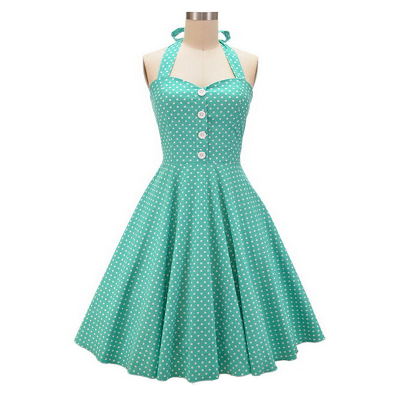 1940s dresses 2016 womens halter backless polka dots 1940s 50s 60s vintage retro style  rockabilly pin nyberzo