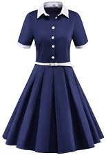 1940s dresses womenu0027s vintage 1940s 50s rockabilly style evening party swing classy tea  dress bfmbhbm
