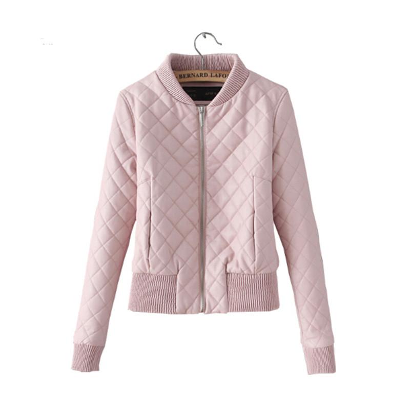 2017 new spring jacket women bomber jacket coat short slim pink jacket coat  chaquetas pqaocqk