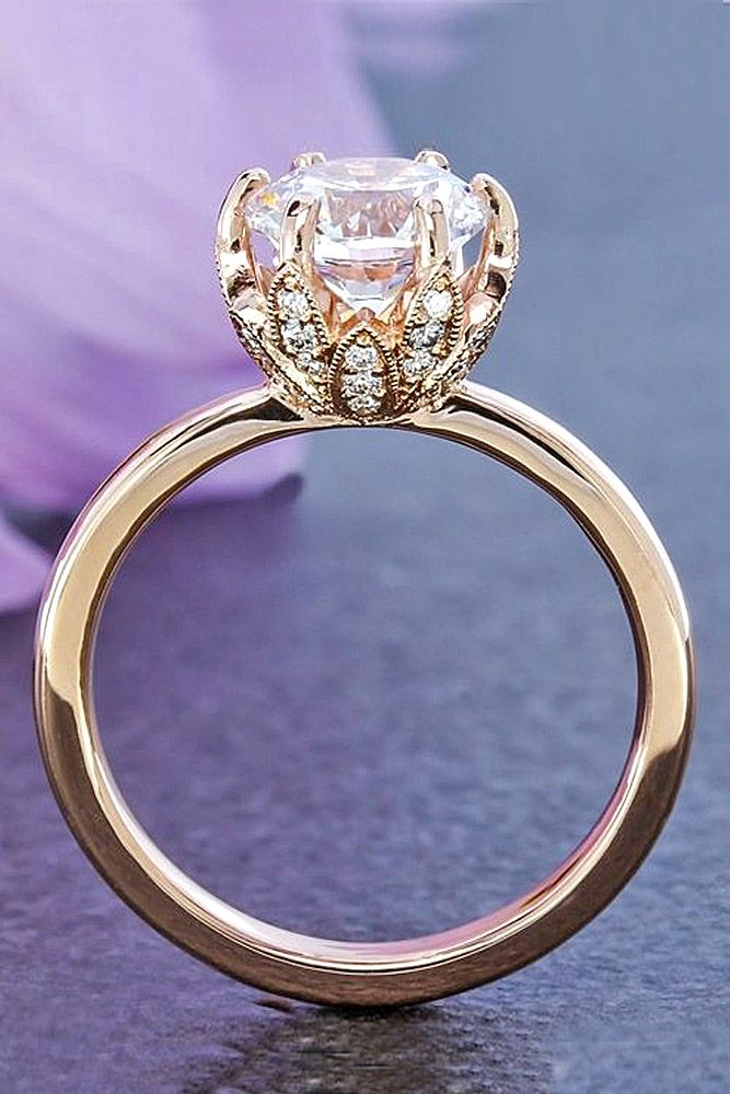 27 rose gold engagement rings that melt your heart rdnvxbt