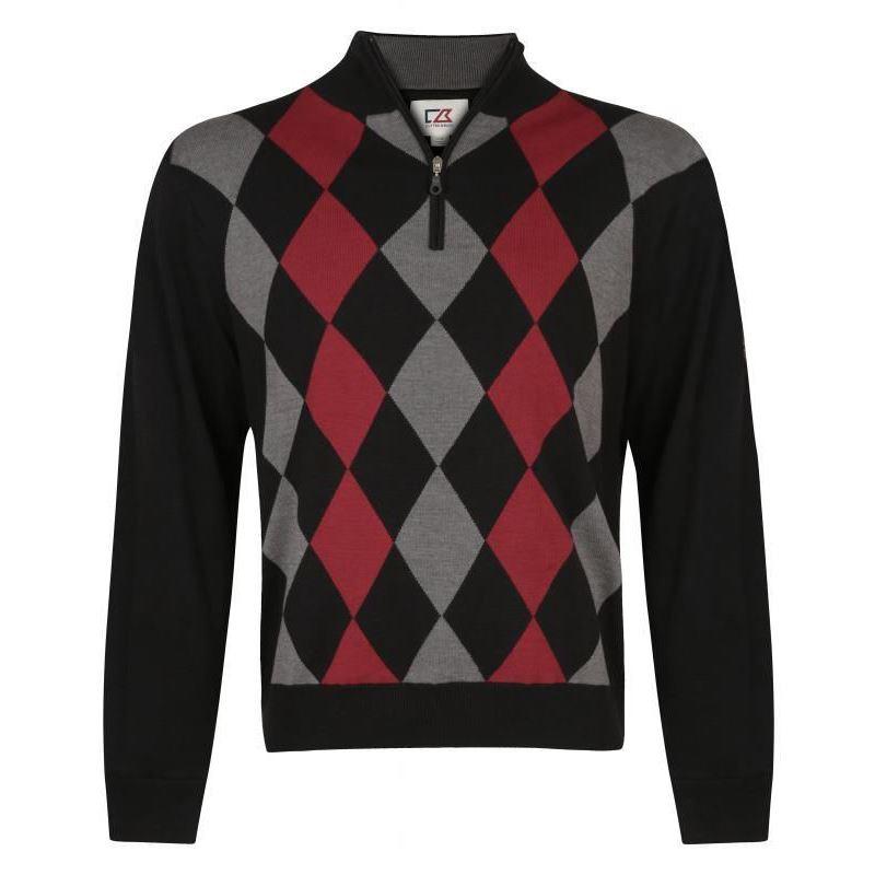 30%off** cutter - buck argyle sweater thermal jumper golf pullover - wfxszix