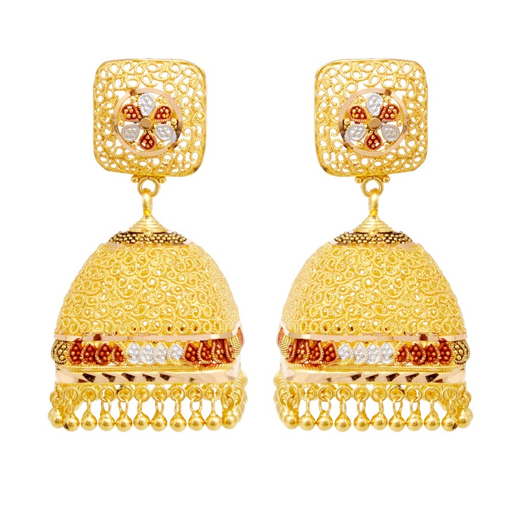 31.85 grams square shape with hanging gold earrings tosgpci