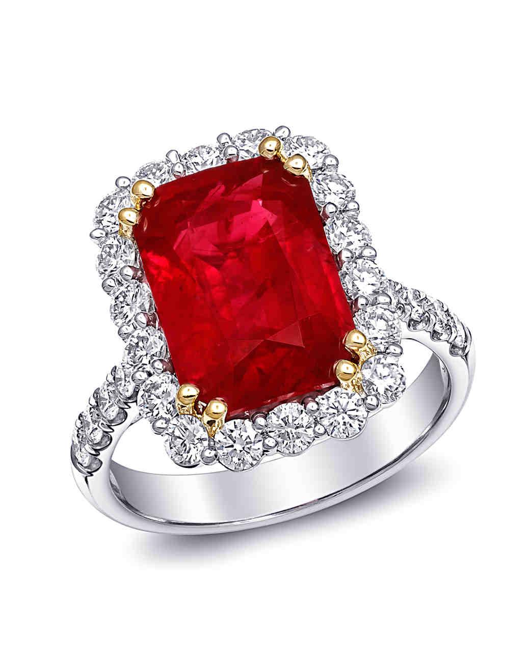34 royal ruby engagement rings | martha stewart weddings frznosn
