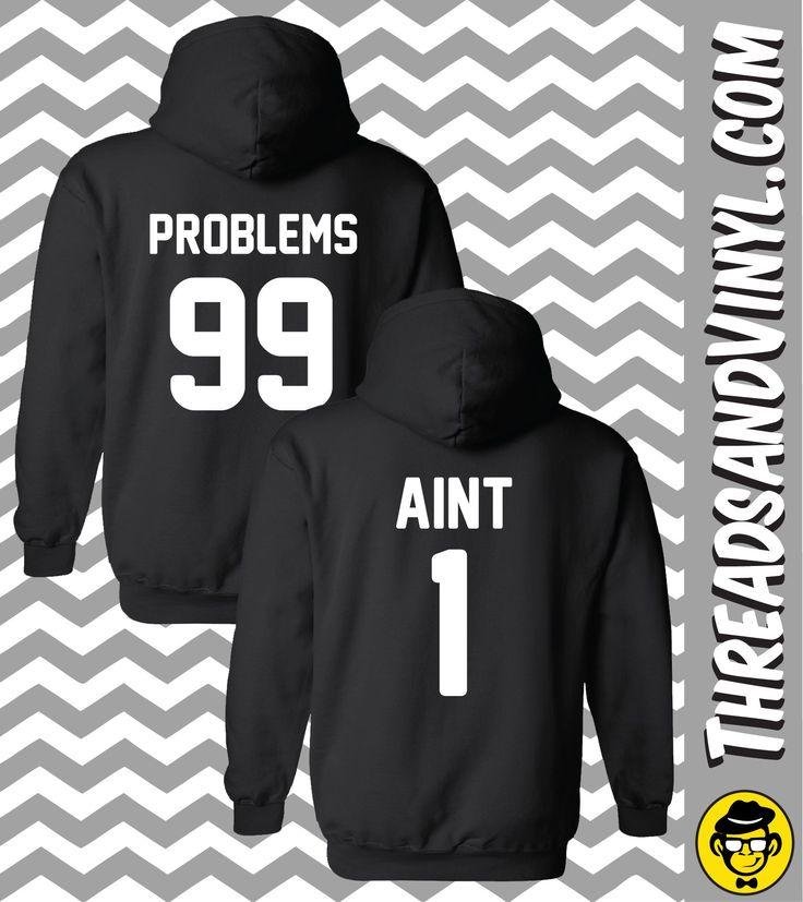 99 problems, aint 1 matching couple hoodies (set) njhqysw