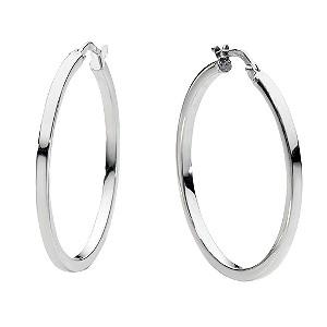 9ct white gold hoop earrings - ernest jones qxlzrux