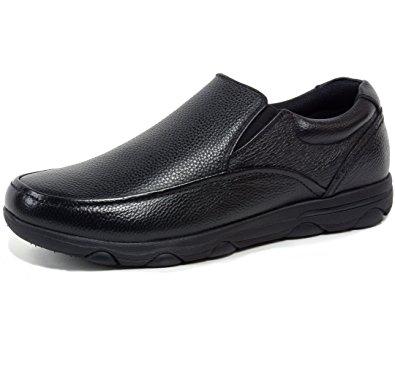 alpine swiss arbete mens leather slip-on work shoes slip resistant black 11  m us gusdcdh