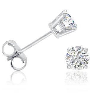 amanda rose 1/2ct tw round diamond stud earrings set in 14k white gold ebemwaj