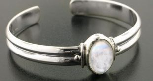 amazon.com: adjustable sterling silver cuff bracelet with a 5.5ct genuine  rainbow moonstone center gem: tduvfkt