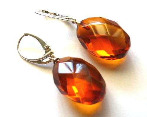 amber earrings baltic amber cognac earrings ... UESSINB