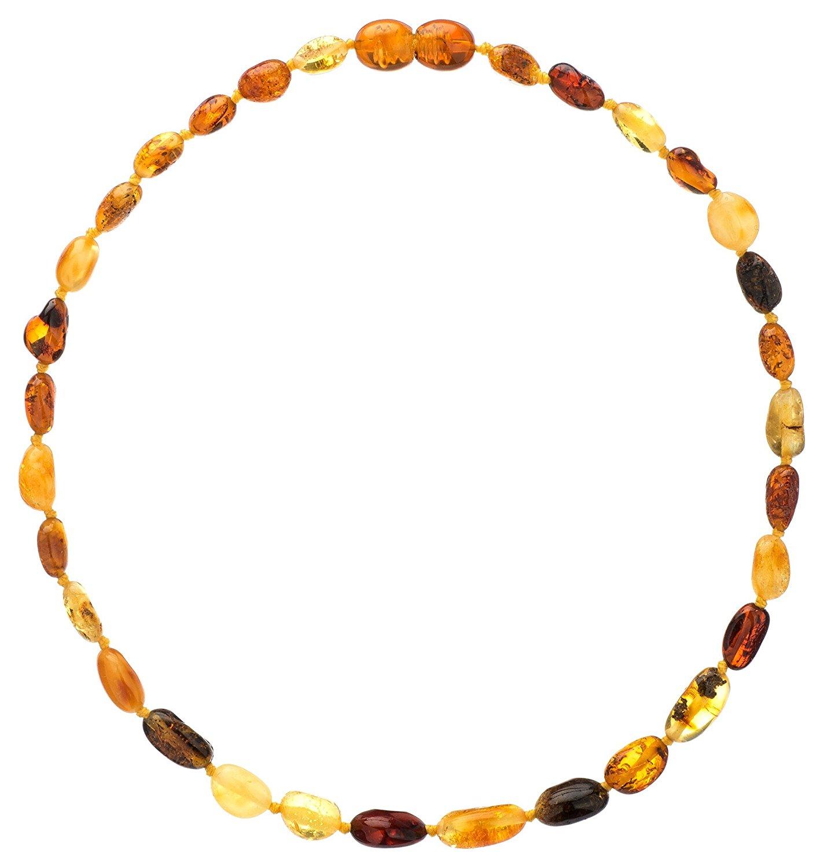 amber necklace amazon.com : amber teething necklace for babies (unisex) - anti flammatory,  drooling u0026 teething JNYRXJS