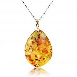 amber necklace baltic piebald amber pendant necklace AHOKYYM