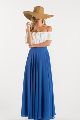 amelia full blue maxi skirt ayjjzhs