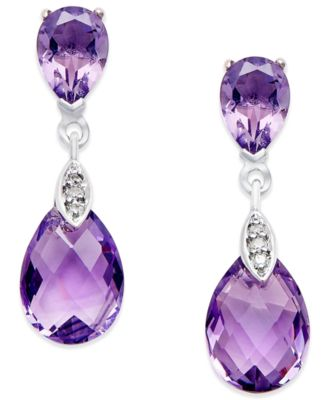 amethyst earrings amethyst (4-1/2 ct. t.w.) and diamond accent drop earrings ACCDSAV