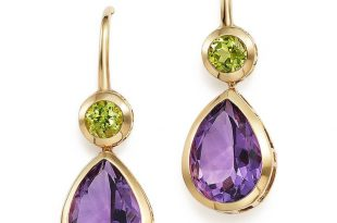 amethyst earrings amethyst and peridot drop earrings in 14k yellow gold more TVECYPO