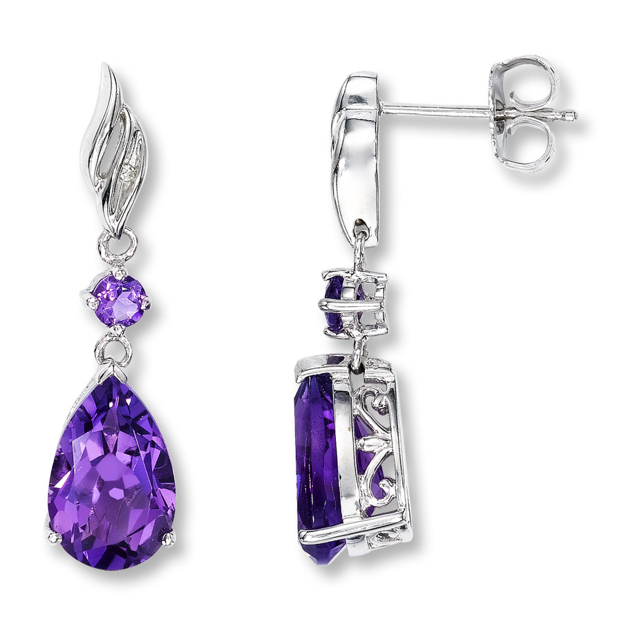 amethyst earrings hover to zoom ICXWIJU