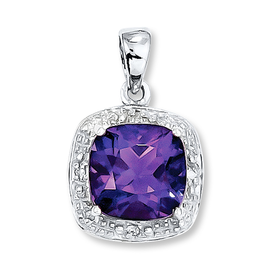 The perfection behind the amethyst pendant
