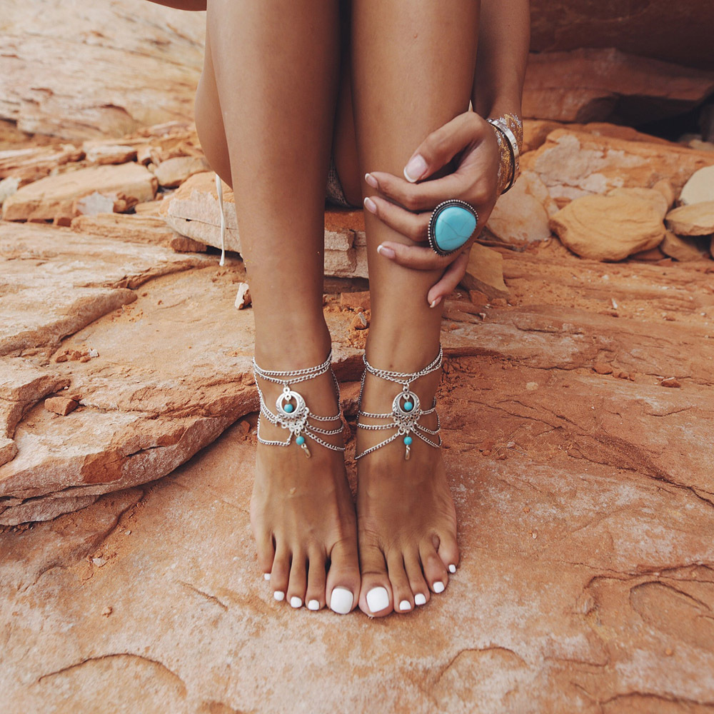 ankle bracelets aliexpress.com : buy anslow multiple vintage anklets for women bohemian ankle  bracelet cheville barefoot PCCTRXA
