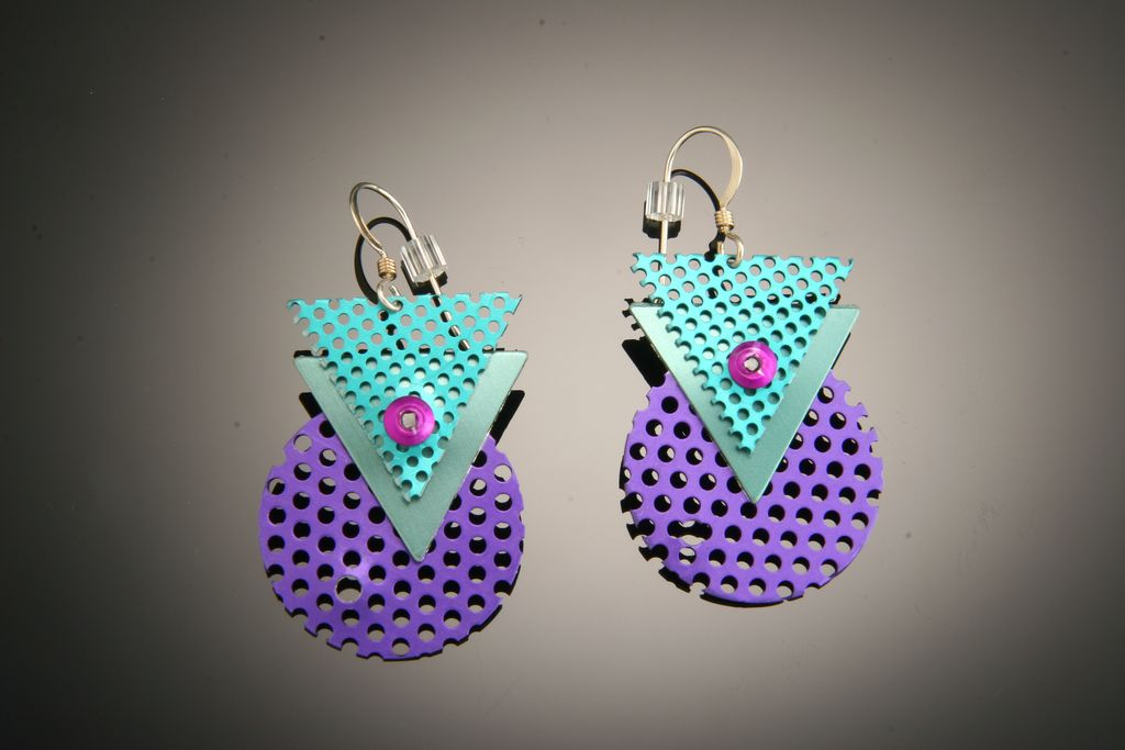 anodized aluminum funky earrings efnmyrb