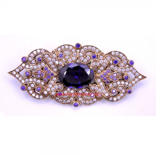 antique brooches amethyst stone silver brooch BLVHLDK