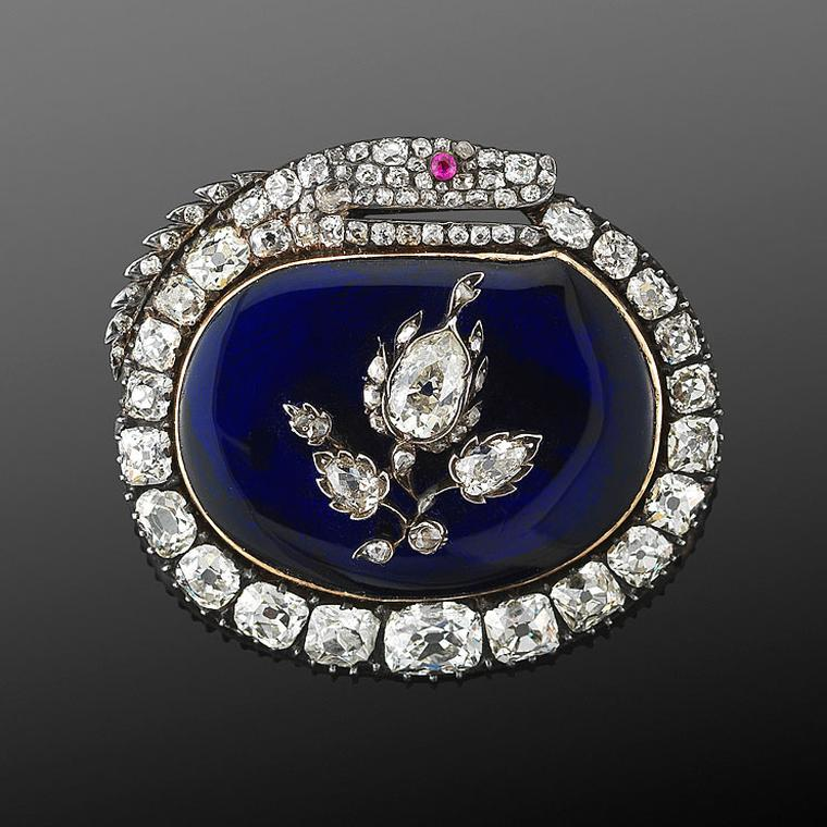 antique brooches fred leighton brooch with blue enamel and diamonds KRZZUPF