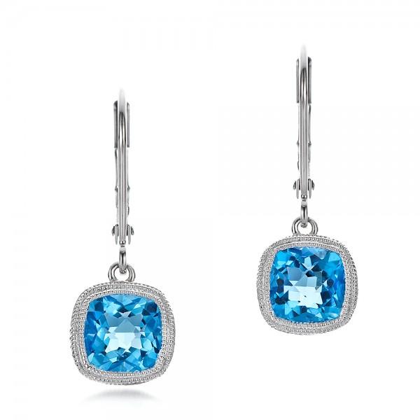 antique cushion blue topaz earrings ctrvgox