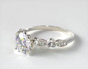antique engagement rings details HBFWGVA