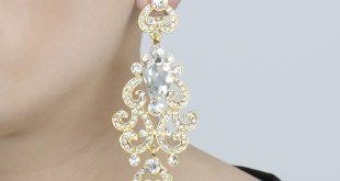 antoinetteu0027s fancy bollywood antique dangle earrings - gold pyvozvs