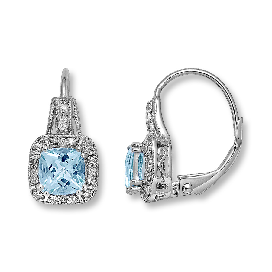 aquamarine earrings hover to zoom UTEVVZB