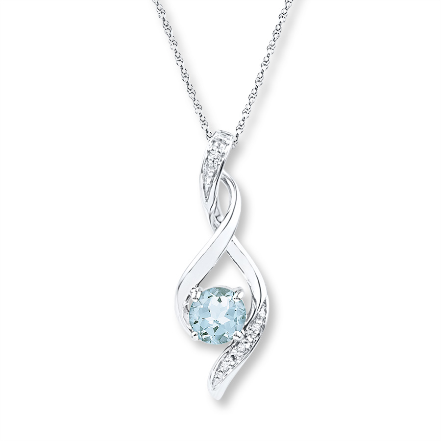 aquamarine necklace hover to zoom XLYDQUX