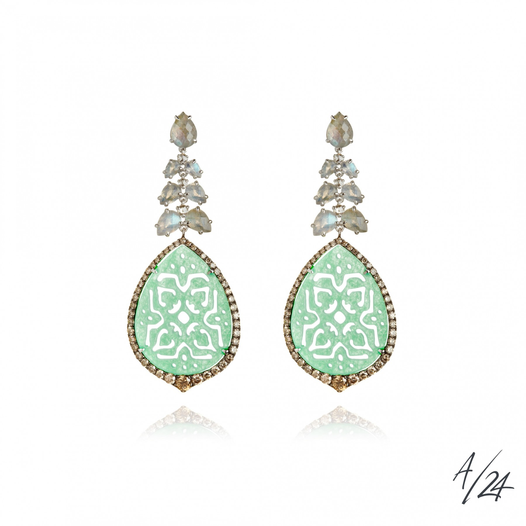 arabesque jade earrings lzsnixm