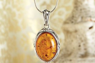 art deco amber necklace - national geographic store PAMDBFA