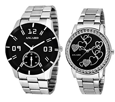 asgard® silver chain couple watches for men u0026 women gxqjbmu