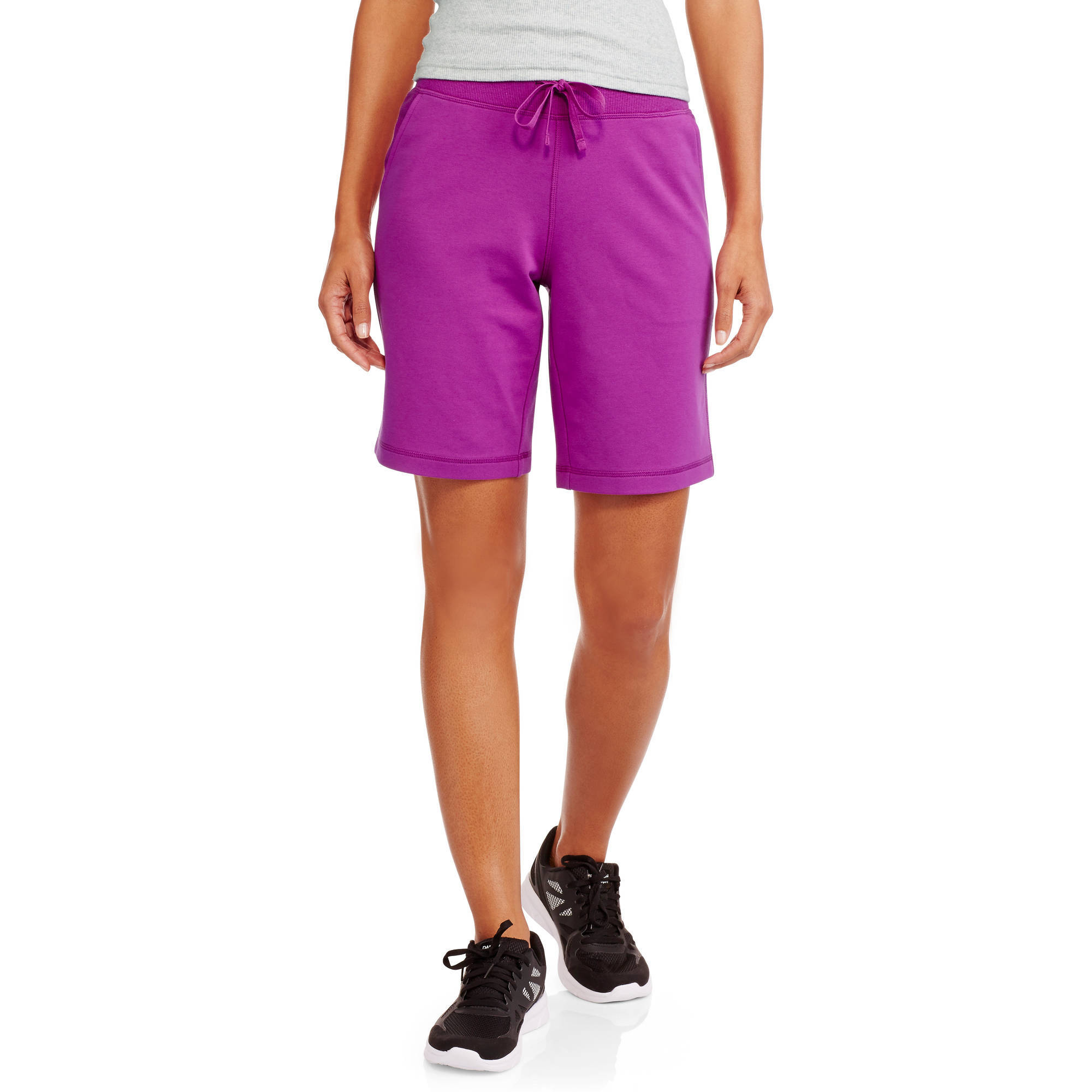 athletic works womenu0027s active french terry bermuda shorts jkbljzb