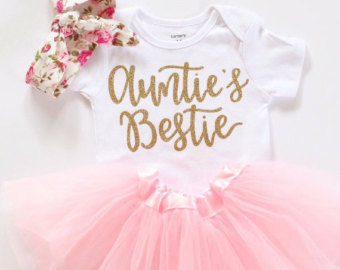 baby girl clothing aunties bestie outfit baby girl clothes aunties bestie shirt mamas mini  outfit gold glitter xvwpnzk